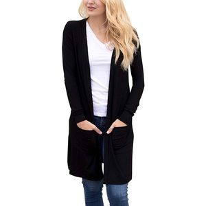 Sweaters - Black Cardigan